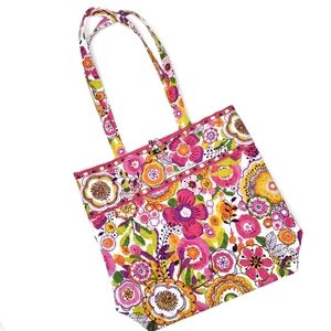 Vera Bradley Pink Clementine Large Quilted Tote